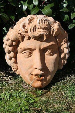 """Bacco""     #terracotta_fountain  #terracotta_mask #mascherone_terracotta #fontana_bacco_terracotta #made_in_tuscany_art"