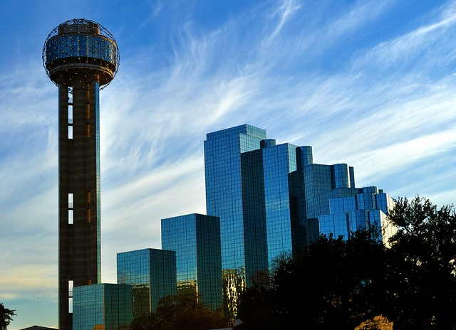 Dallas, Texas. It was a cold, cold afternoon. Love this city.