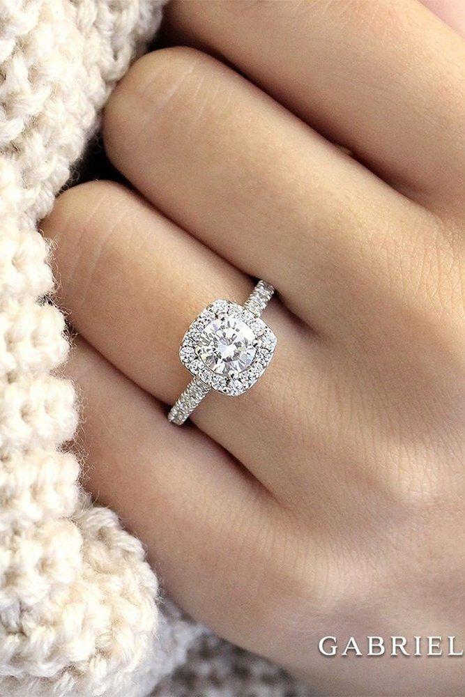 24 Gabriel Co Engagement Rings Extraordinaire Square Engagement Rings White Gold Engagement Rings Halo Round Halo Engagement Rings