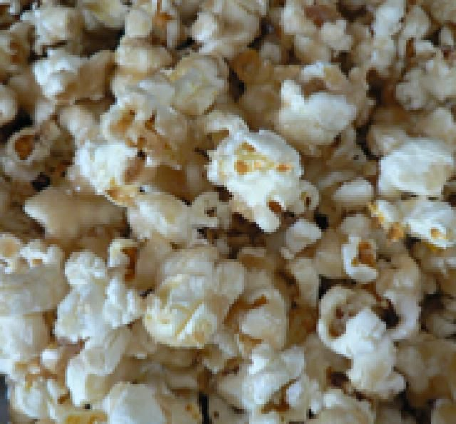 Allergy-Free Caramel Popcorn: Sweet, salty, and crunchy. The three food groups.