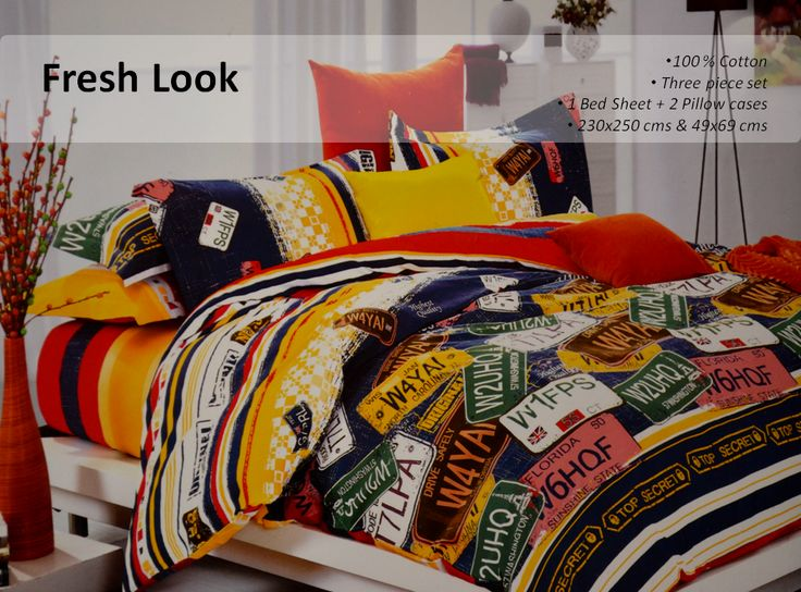 100 Cotton Bedsheet Add A Splash Of Colours To The Contemporary Look Of Your Home
