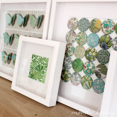A small bite of mondocherry: gorgeous greens and beautiful blues... These would be great for the craft room!