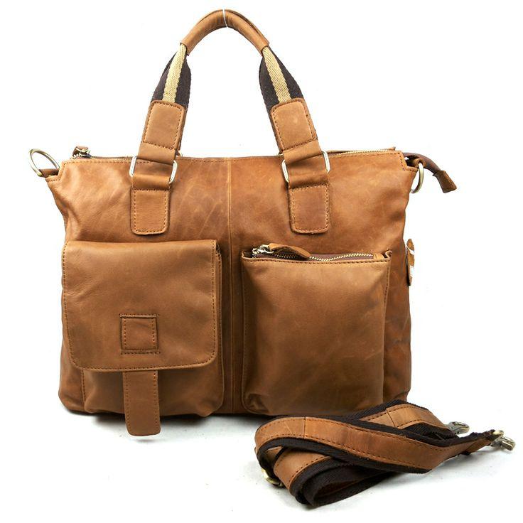 Manufacturers selling men messenger bag leisure shoulder bag imported head layer cowhide leather bags $69.67