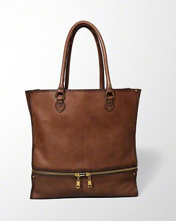 Zipped Leather Tote Bag from Abercrombie & Fitch $150,00
