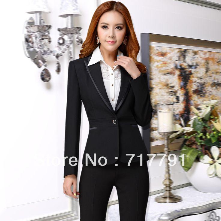 New Fashion Autumn Winter Women Clothing Lady Office Suits Formal Work Wear Slim Dress