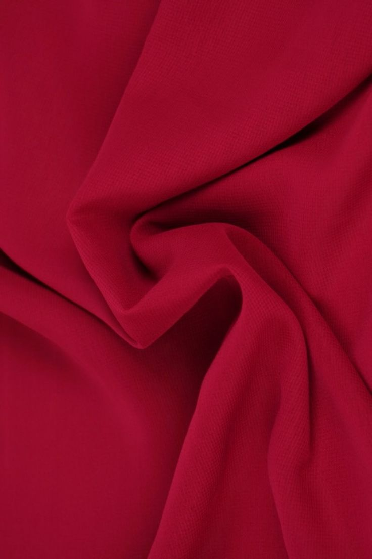Stoffen Uni Donker Rode Chiffon Voile Polyester Viscose