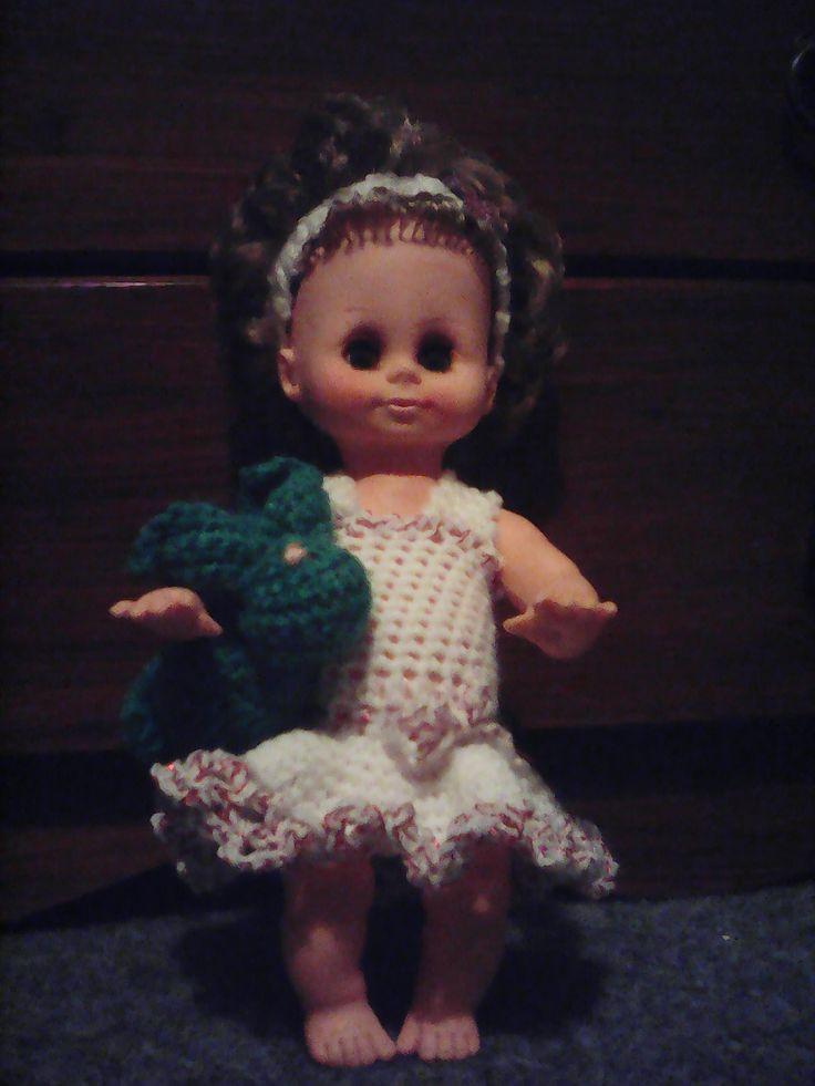 Háčkované šaty na panenku