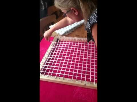 POM POM BLANKET LOOM - STEP BY STEP TUTORIAL PART 1 - how to make the loom includes sizes - YouTube