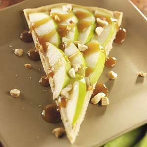 Caramel Apple Pizza Recipe  http://www.stockpilingmoms.com/2012/04/caramel-apple-pizza-recipe/