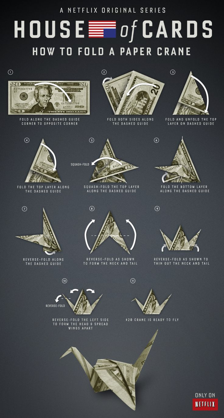 How to fold a paper crane, just like Claire Underwood.
