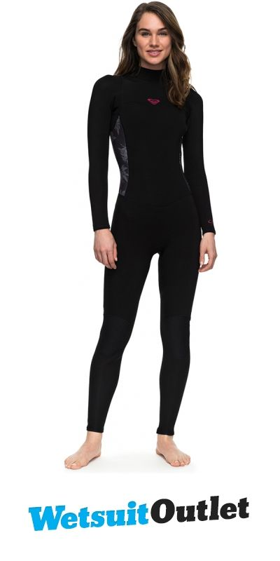 2018 Roxy Womens Syncro Series 3 2mm Flatlock Back Zip Wetsuit BLACK  ERJW103023 37967e7dc