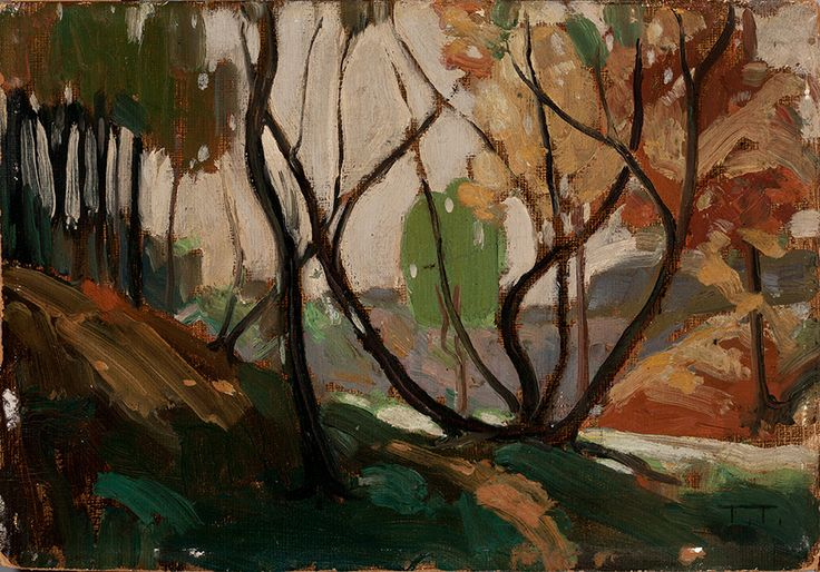 """Tom Thomson, """"Sketch for Opulent October,"""" 1915, private collection."""