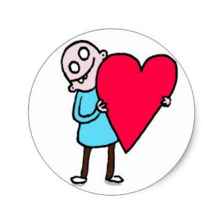 Big Love, Bald Ugly Man Classic Round Sticker
