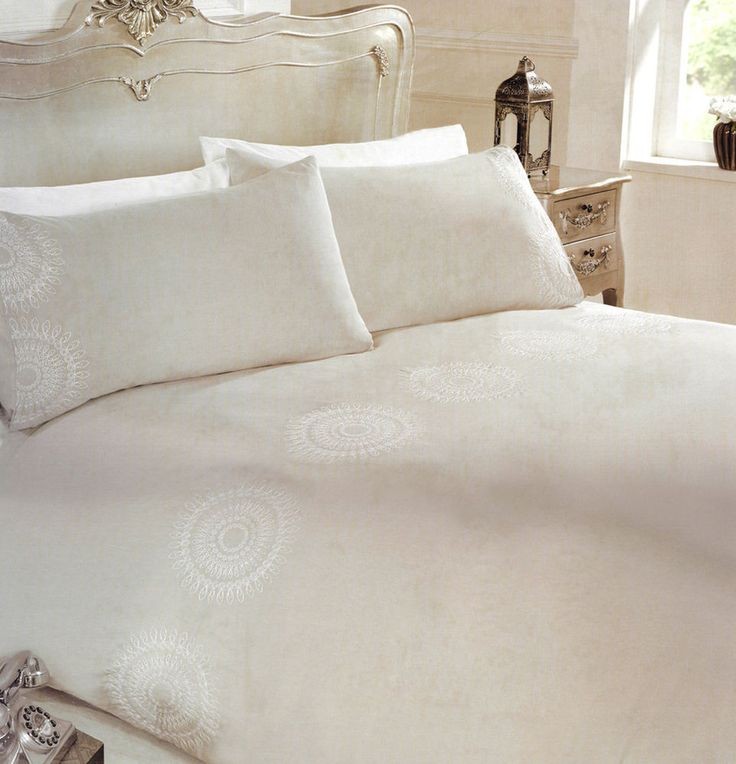 Bedding And Linens Part - 37: Embroidered Kaleidoscope Embellished Modern Bedding Set For Double Bed Mid  Grey