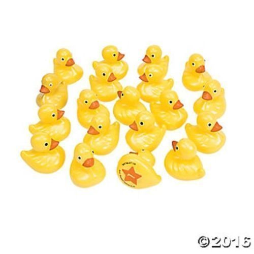 20 Numbered Yellow Matching Floating Ducks Circus Carnival Birthday Party Game #FunExpress #BirthdayChild