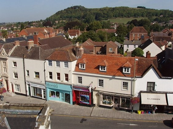 Warminster High Street for the book Elemental: The First by Alexandra May