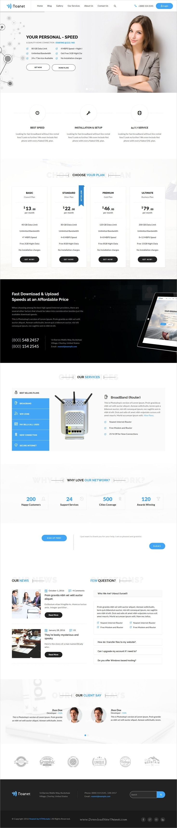Noanet is clean and modern design 2in1 responsive HTML5 #bootstrap template for #internet provider and digital #network companies website download now➩ https://themeforest.net/item/noanet-internet-provider-and-digital-network-html-template/19745595?ref=Datasata
