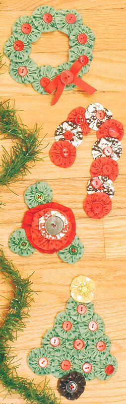 Buttons and Yo-Yos for the holidays.