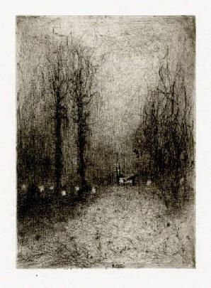 Bohuslav Reynek Koza u silnice / Goat at the Road suchá jehla / dry point 19,1 x 13,9 cm, 1964, otisk z původní desky,opus G 525