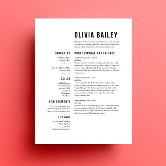 46 best RESUME images on Pinterest Resume design, Curriculum and - common resume formats