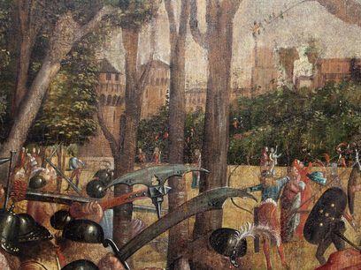 Martirio dei pellegrini e funerali di sant'Orsola, dettaglio