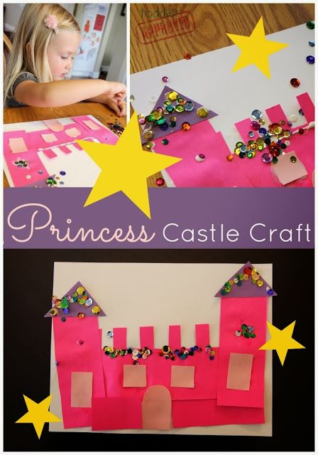 Toddler Approved!  Sparkly Princess Castle Craft.  My girls would have gone CRAZY for this when they were little!