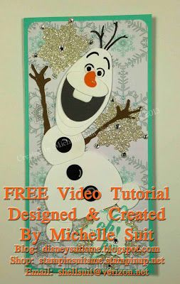 "FREE Video Tutorial to help you create this adorable ""Olaf"" the snowman punch art.  All supplies are Stampin' Up! Blog:disneysuitsme.blogspot.com Shop: stampinsuitsme.stampinup.net"