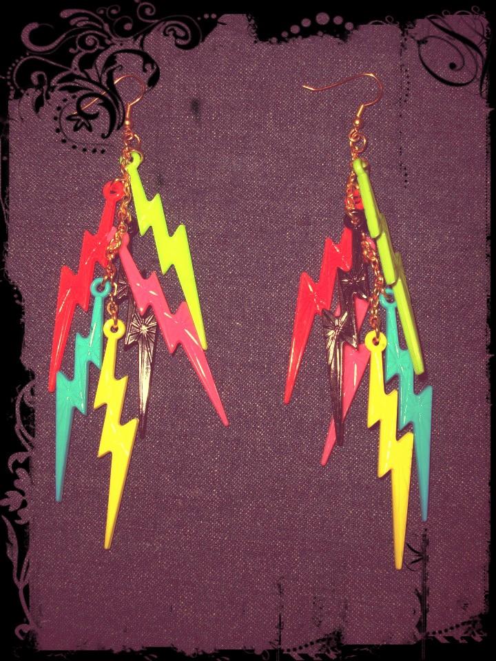 Aros rayos coloridos