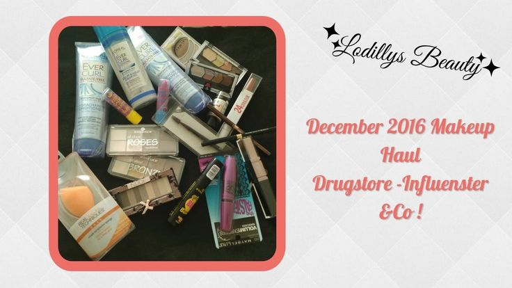 **December 2016 Makeup Haul ** Drugstore,  Influenster & Co