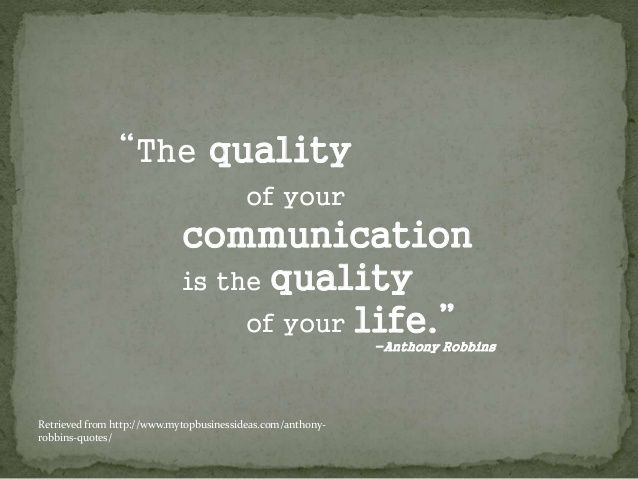 Tony Robbins Quotes On Communication anthony robbins ...