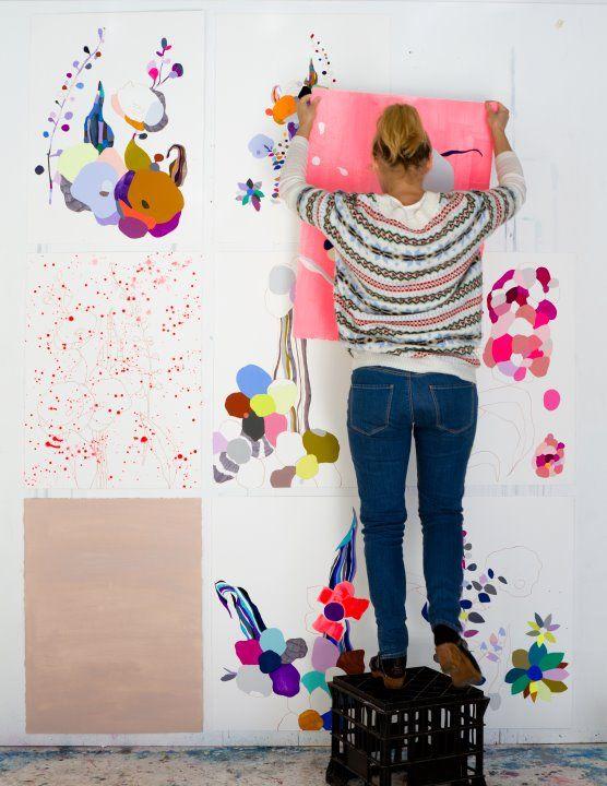 Kirra Jamison: Colour, Wall Art, Jamison Studios, Artists Quilts, Colors Art, Kirra Jamison, Abstract Art Paintings, Artists Kirra, Art Pieces