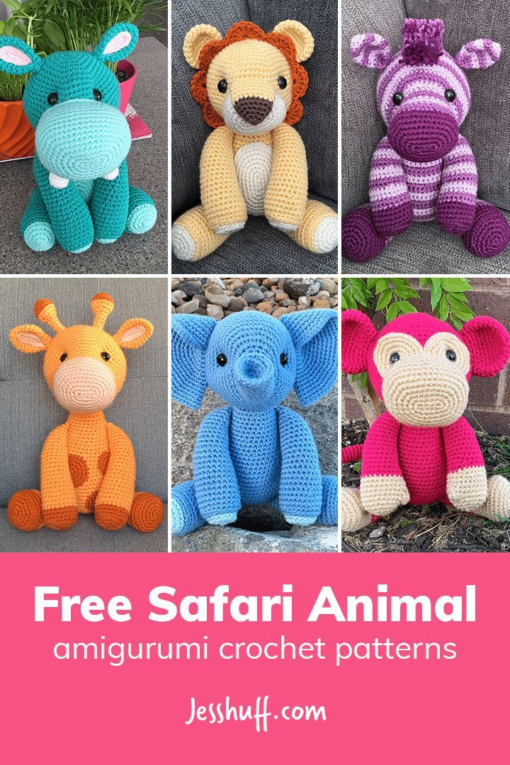 Free Safari Animal Amigurumi Patterns    #Crochetdollsaregreat  #amigurumi #crochet #amigurumi #häkeln #yarn #ganchillo #virka dawn rowley
