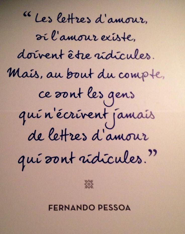 @UntexteUnjour 46m46 minutes ago  Musée des lettres et des manuscrits. Citation de Fernando Pessoa