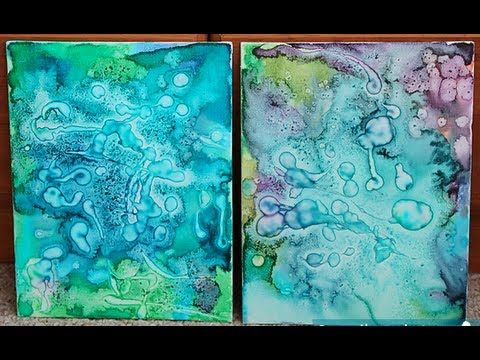 DIY Watercolor & Glue Painting (Pinterest Project)