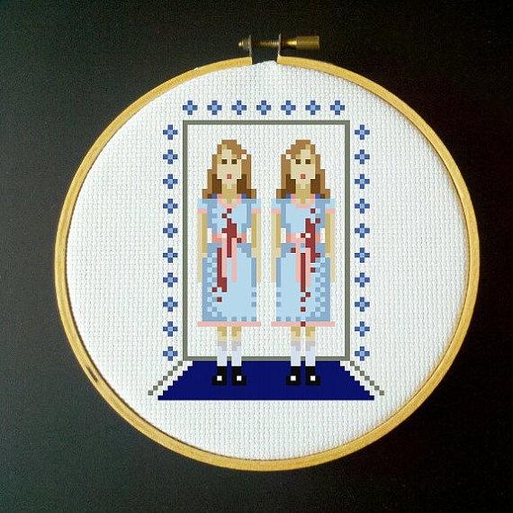 The Shining Cross Stitch Pattern  Twins by LadyBeta on Etsy, $3.00