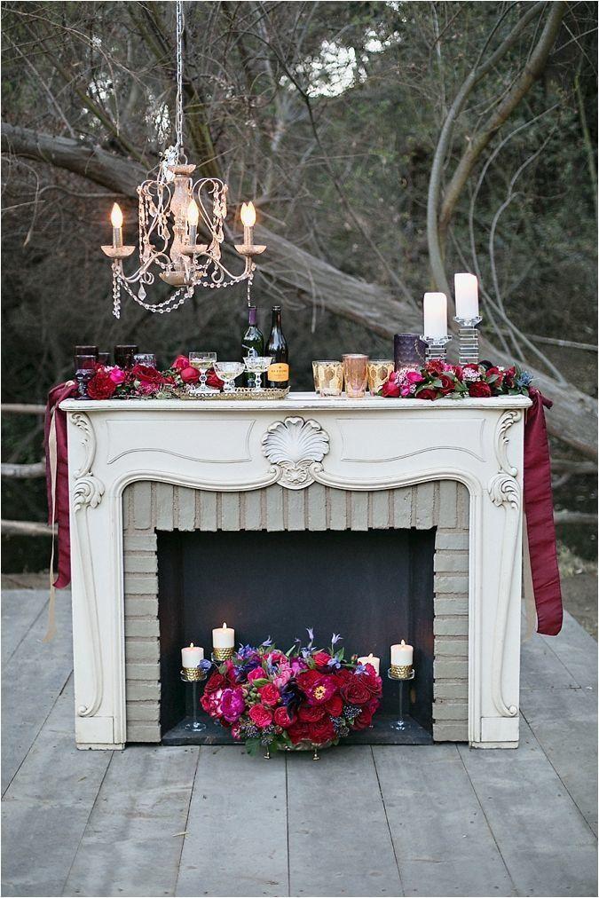 камин, Свадебное оформление и флористика, Оформление фотосессий и прогулок
