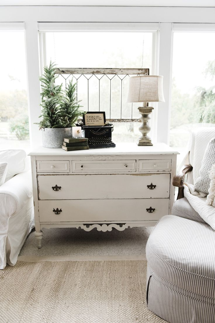Vintage French Soul ~ Farmhouse style sunroom - Great cottage decor & farmhouse decor inspiration!
