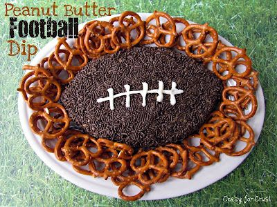 Peanut Butter and Chocolate Chip Football dip!: Peanuts, Butter Football, Superbowl, Recipes, Super Bowls, Football Parties, Football Season, Peanut Butter, Football Dips