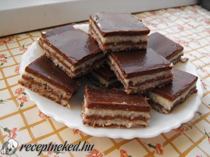 Hozzávalók: Tészta: 40 dkg darált keksz 4 evőkanál kakaópor 4 dkg margarin 4 evőkanál porcukor 2 evőkanál baracklekvár 1 evőkanál rum kb. 3 dl tej Krém: 3