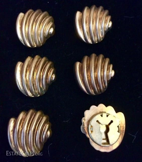 Online bidding available! Vintage copper button covers