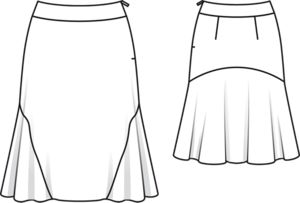 Pattern Adjustments Sway Backs Full Busts further Girls Skirt Patterns as well Football Cut Out Patterns further Technical Fashion Drawings Skirts likewise Boardwalk Dress. on full skirt sewing pattern illustration