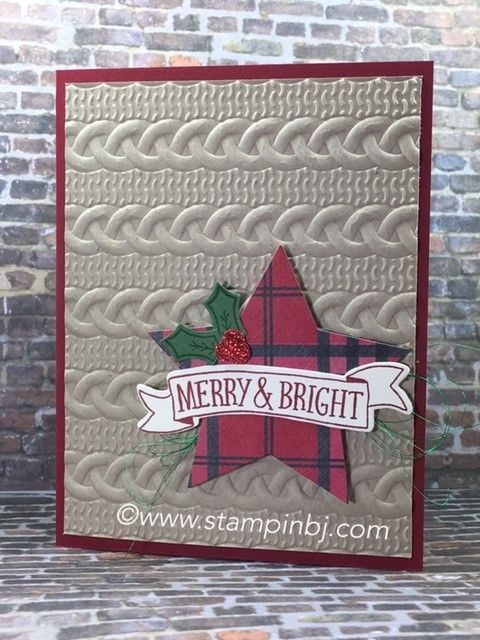 Stitched with Cheer is a set of 27 stamps on sale with so many possibilities! #stampinbj.com