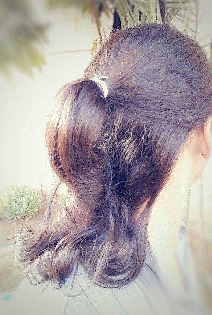 Hair Style Hairstyle Tie Ponytail Half Ponytail تسريحة الشعر المربوط ربط الشعر تسريحة شعر ذيل الحصان النصفية