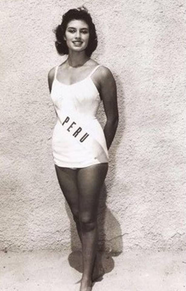 Gladys Zender - Miss Universe Peru 1957 | All years Miss ...
