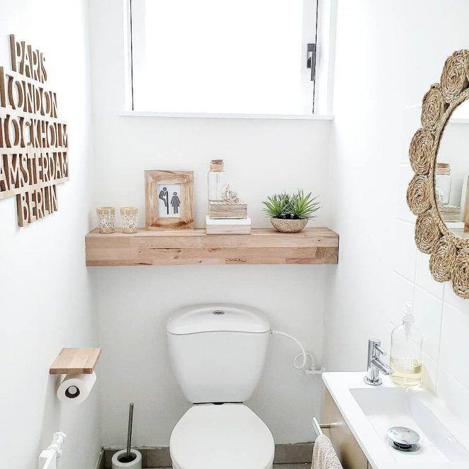 Decoration Des Toilettes Wc 101 Astuces Pour Les Reveiller Petite Salle De Toilette Decoration Toilettes Idee Deco Toilettes