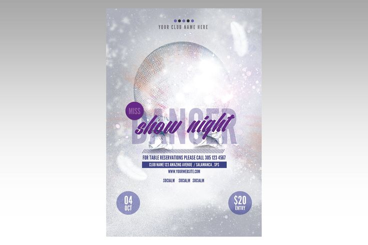 Miss Dance Flyer Poster   #poster, #flyer, #music, #dj, #electronic, #retrobox, #party, #template, #graphic, #trend, #disco, #club, #event, #night, #bar
