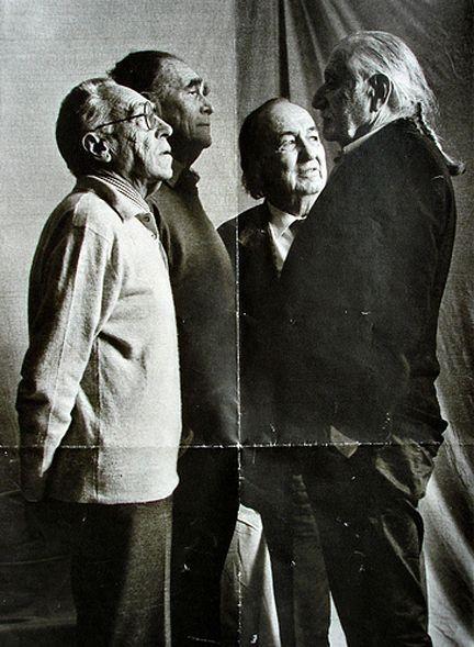 The italian four: Achille Castiglioni, Vico Magistretti, Marco Zanuso, Ettore Sottsass.: