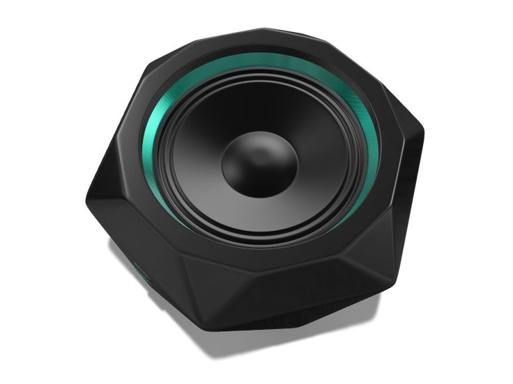 Bluetooth speaker made with VECTARY