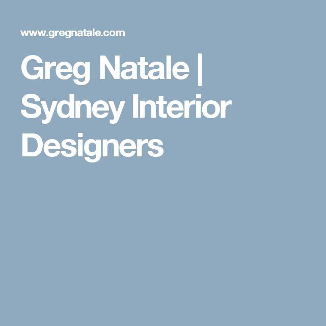 Greg Natale | Sydney Interior Designers