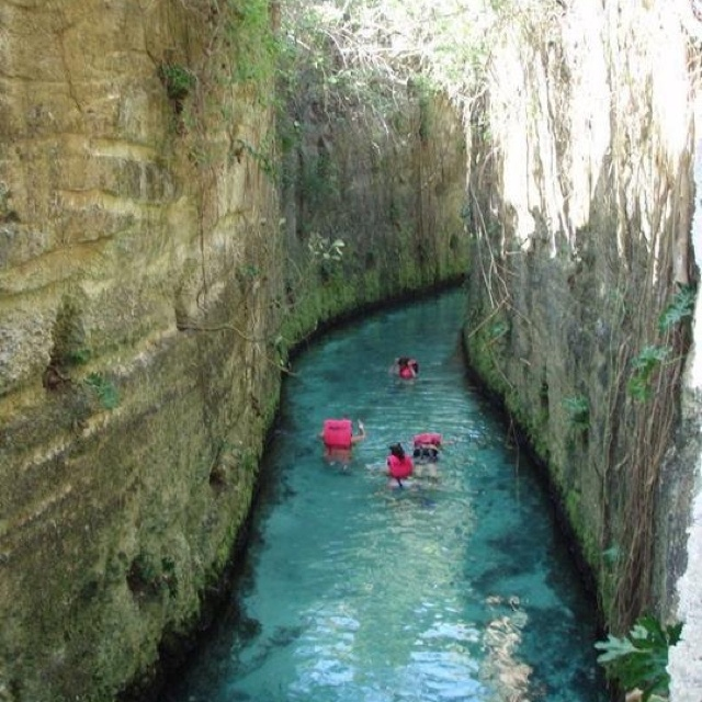 Swimming In A Cave In Cancun, Mexico